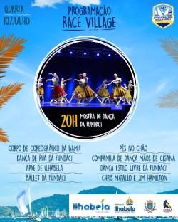 Mostra de dança da Fundaci integra a Programação do Race Village em Ilhabela