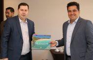 O prefeito de São Sebastião participa de encontro de negócio com investidores russos