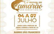 São Sebeastião Festival do Camarão inicia nesta quinta-feira (4) no bairro São Francisco