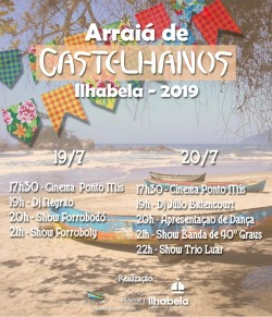 """Cultura de Ilhabela realiza """"Arraiá"""" em Castelhanos"""