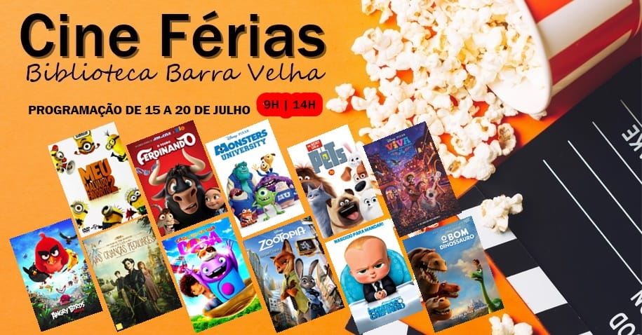 Programação Cine Férias irá até este sábado na Biblioteca da Barra Velha