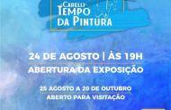 """São Sebastião a Casa da Cultura recebe a exposição """"Tempo da Pintura"""", de Antônio Carelli"""