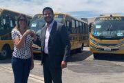 Caraguatatuba recebe mais quatro ônibus para transporte escolar