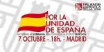 FEJONS se manifestará por la Unidad de España