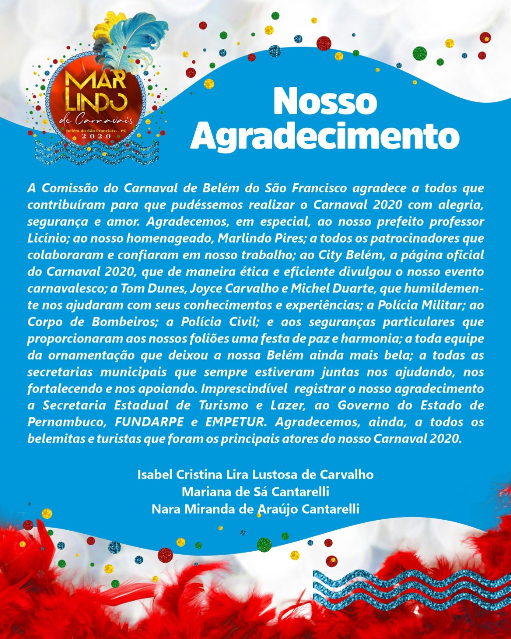 BSF - Nota carnaval