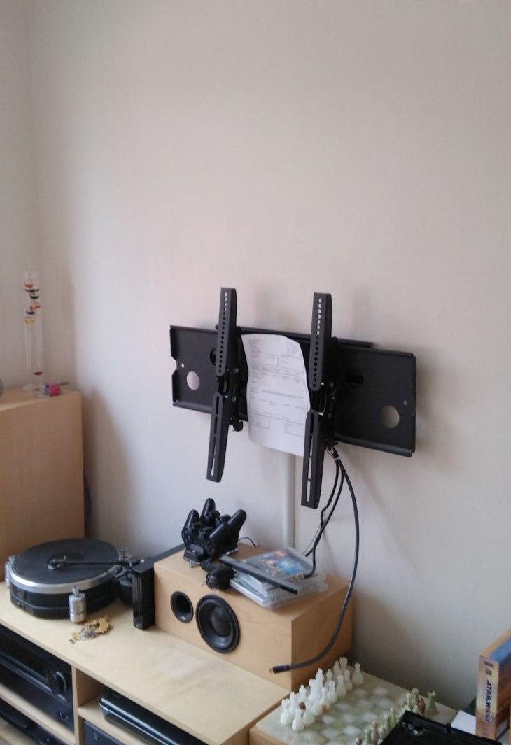 Empty Wall, TV Bracket