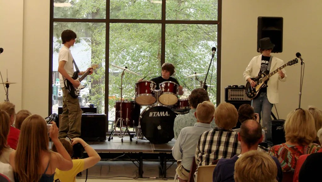 ONVO Talent Shows were held in the dining commons prior to 2009, when the Hannah Center Theater was built. This show is 2007.