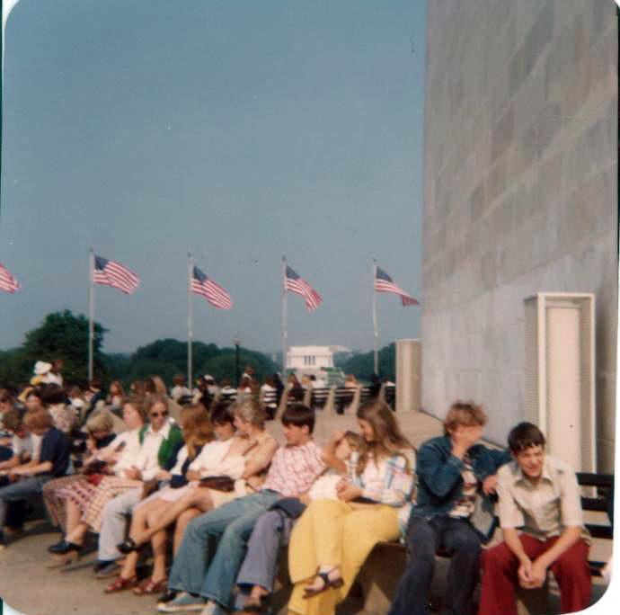 Freshmen Class Trip to Washingtonb 1974