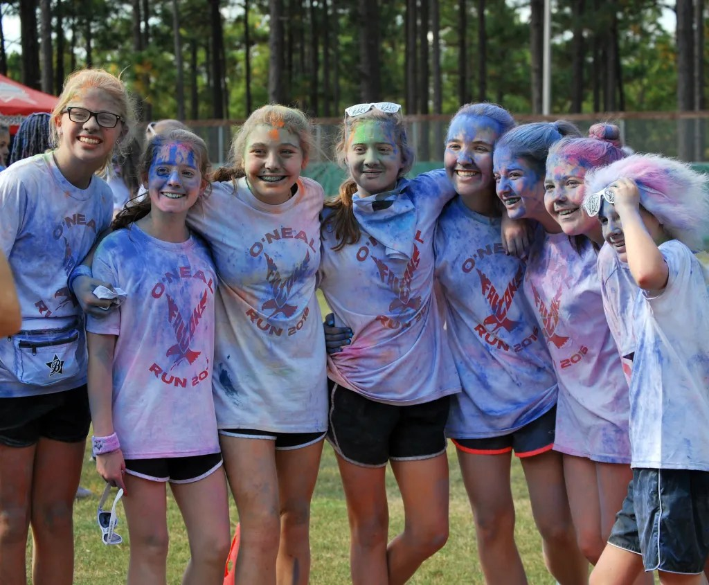 Boosterthon 2016 Color Run on campus.