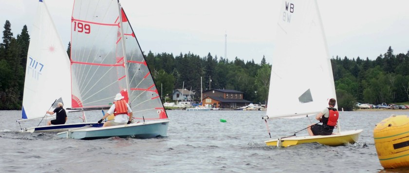 Boats on Start line