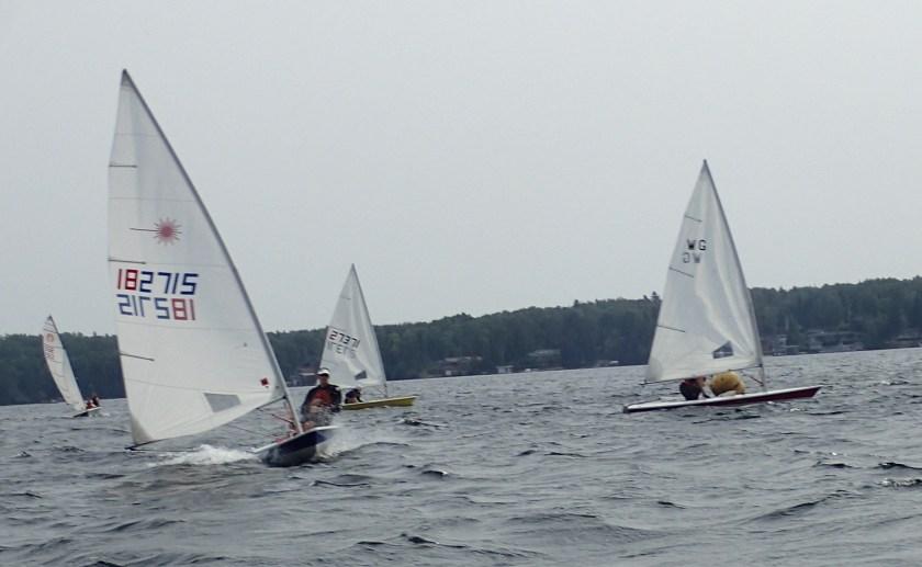 Sailors ready for start of racer