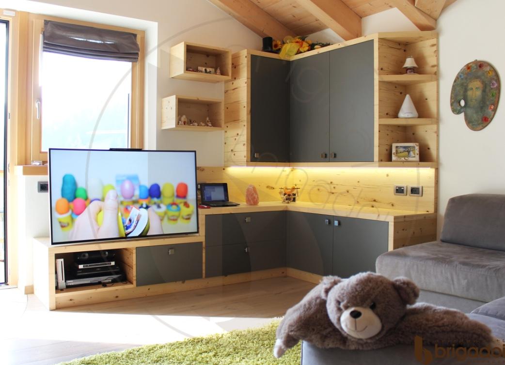 soggiorno legno laccato arredamenti brigadoi