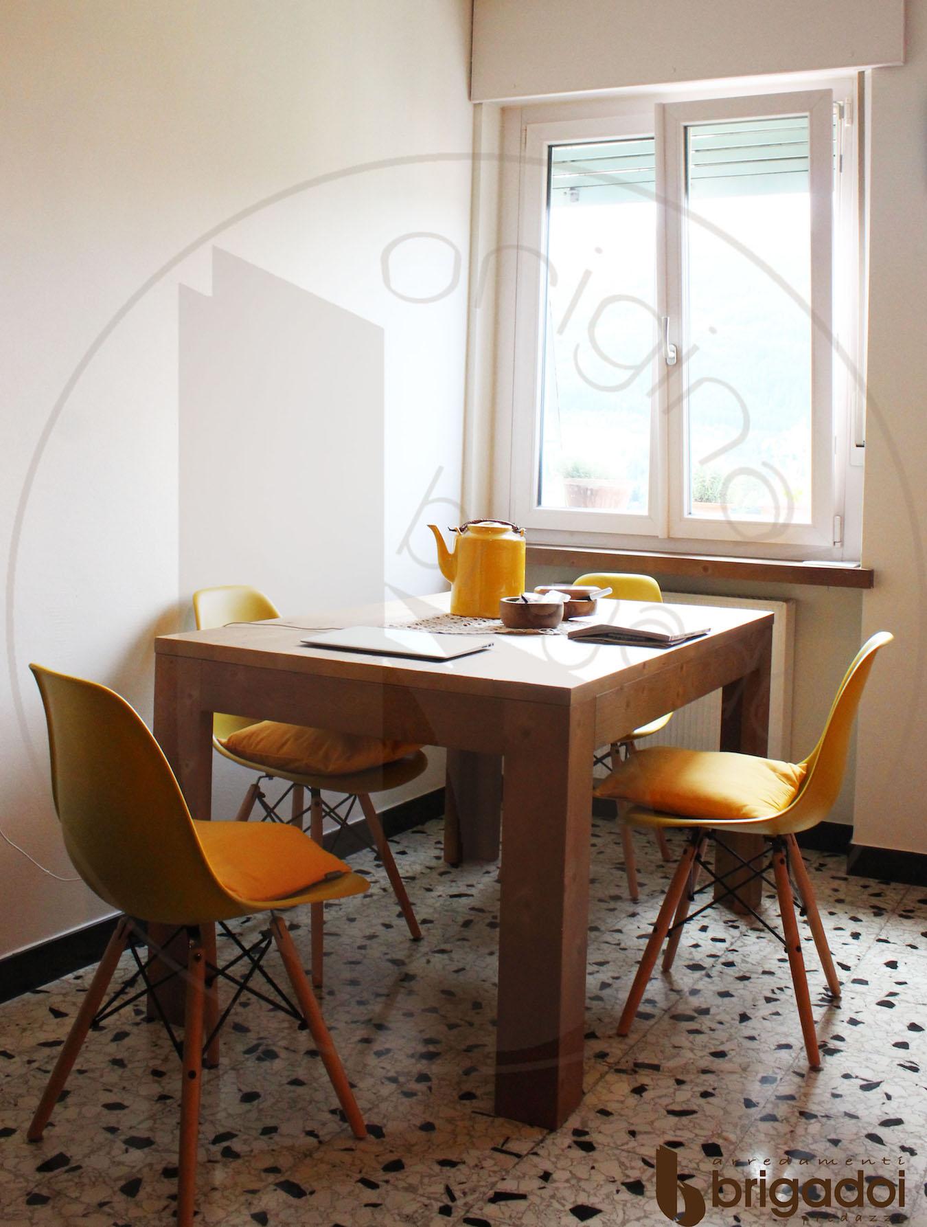 tavolo legno cucina moderna arredamenti brigadoi falegnameria val di fiemme trentino