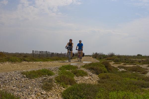 070415 Cykling Vid Stranden