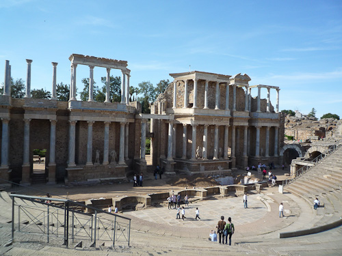 Scenen i den Romerska teatern från 15 innan år 0
