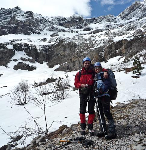 Spanska alpinister i full utrustning möter svenska fågelskådare utan lunch