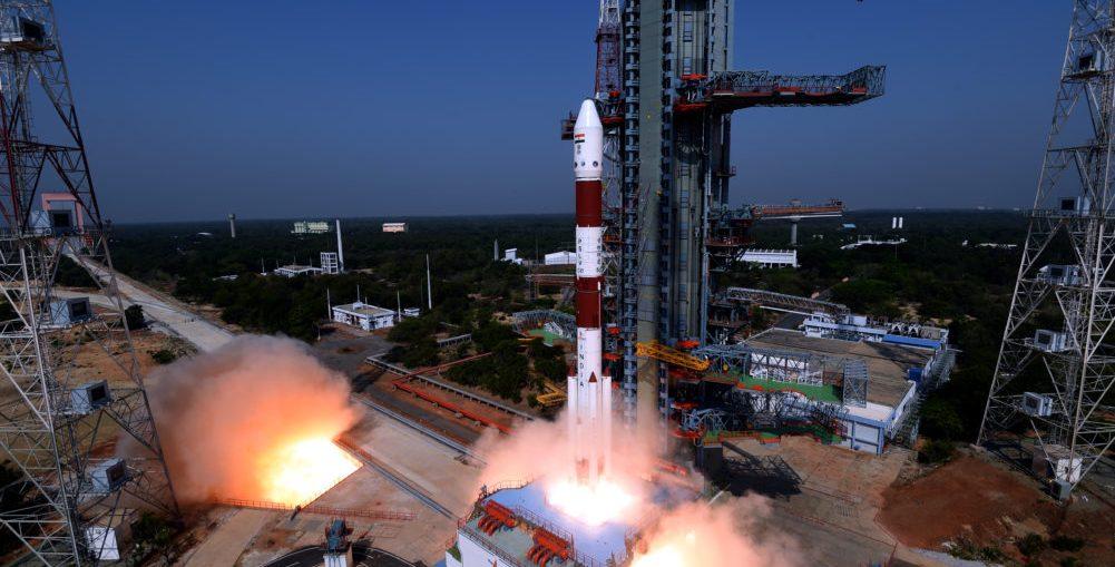 PSLV-C45 launch from the Sriharikota carrying EMISAT