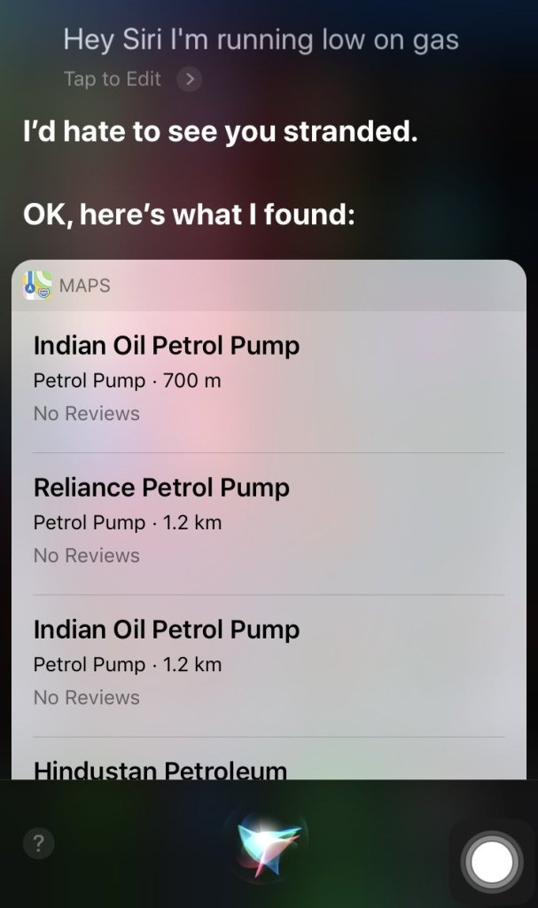 find services nearby with Siri