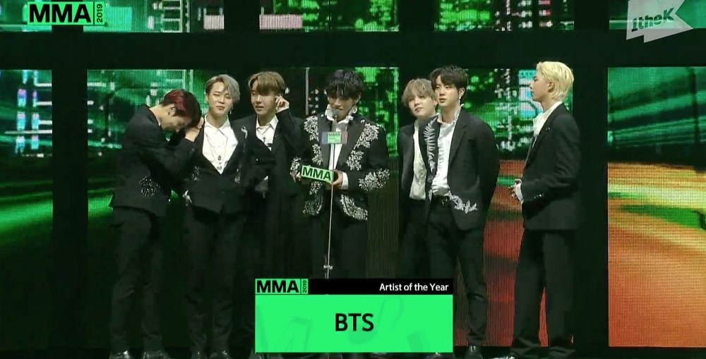 BTS at the MMA 2019