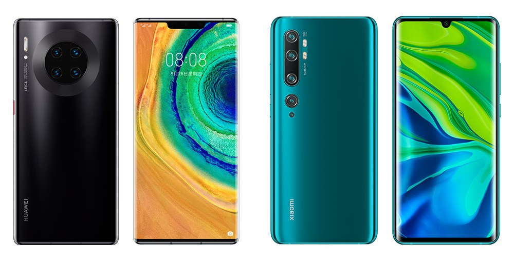 Huawei Mate 30 Pro and Xiaomi CC9 Pro Premium Edition