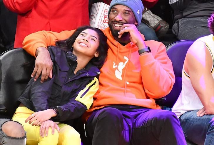 Kobe Byant with his daughter Gianna Maria aka GiGi