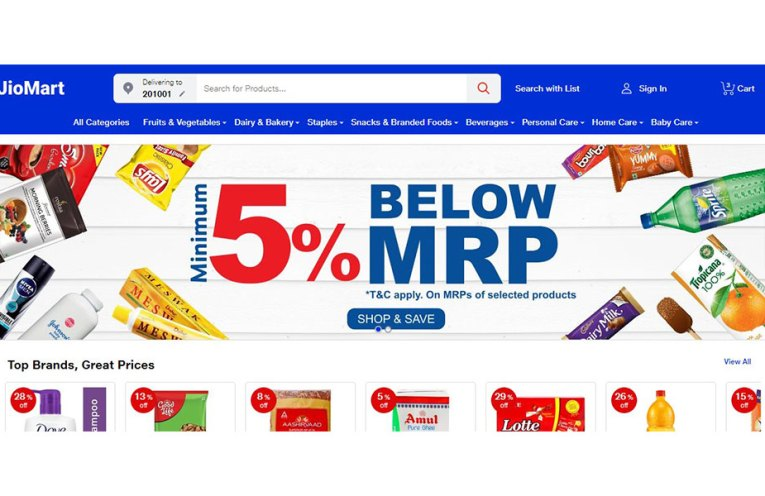 Reliance JioMart Grocery Delivery Service in India