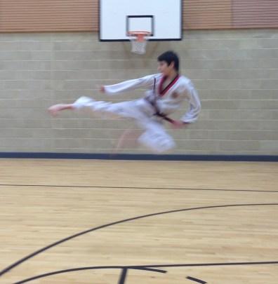 Jump side kick