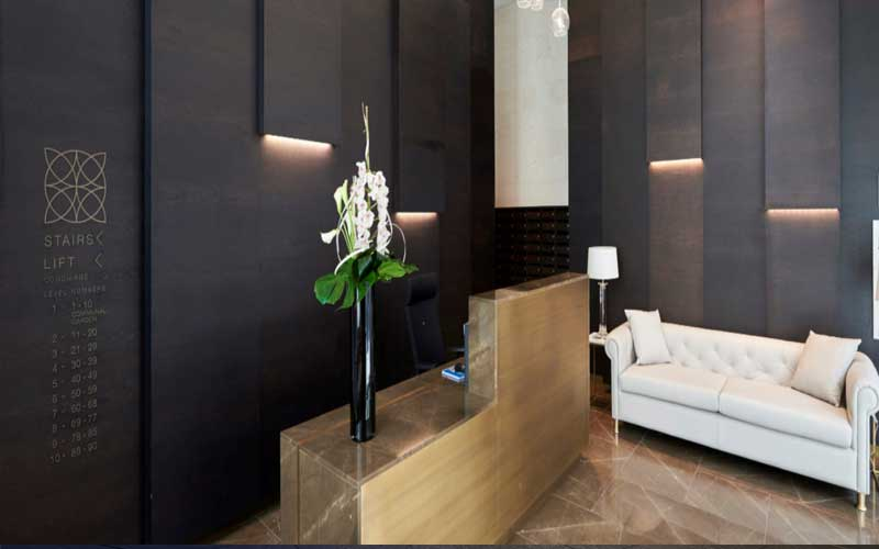 Gold Luxury reception desk