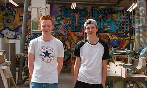 joinery apprentices in the Shoreditch workshop