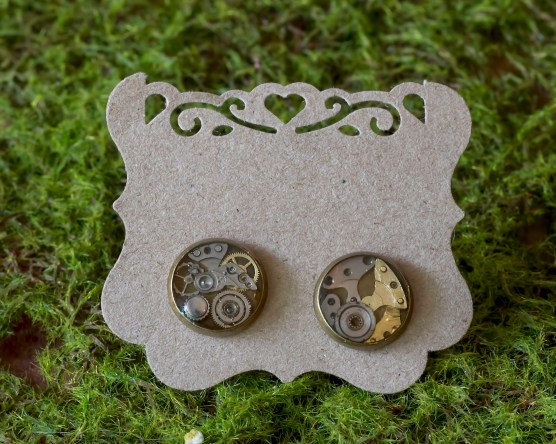 Steampunk stud earrings