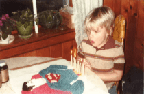with Superman cake