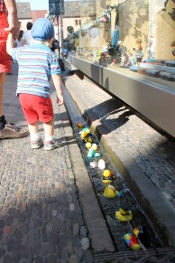 The kids love playing in the Bächle!