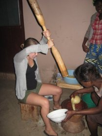 Making fufu in Accra