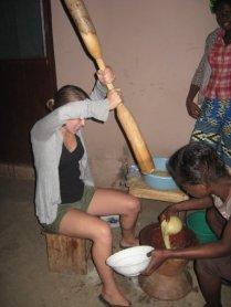 Making fufu in Accra
