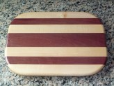 Purple Heart and Maple Cutting Board