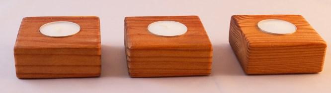 Redwood Single Tea Light Holder