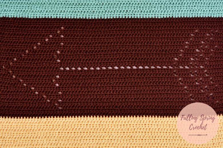 Falling Spring Crochet Gender Neutral Baby Blanket Free Crochet Pattern Featured Image for Blog