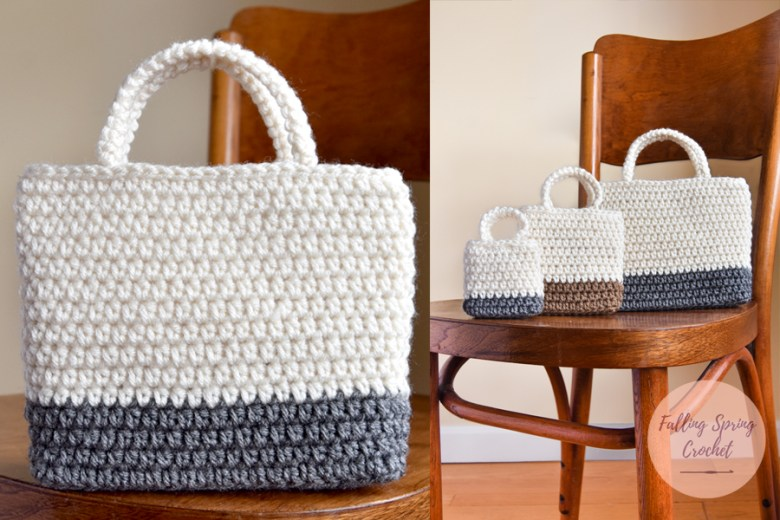 Falling Spring Crochet Easy Gift Bag Crochet Pattern in 3 Sizes