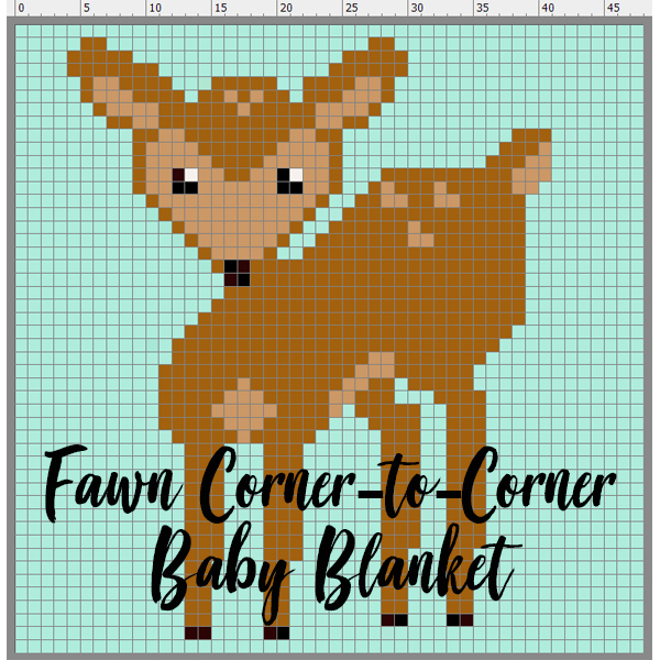 Fawn Corner to Corner Baby Blanket Gallery Thumbnail