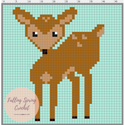 Fawn Corner-to-Corner Graph Sample Image