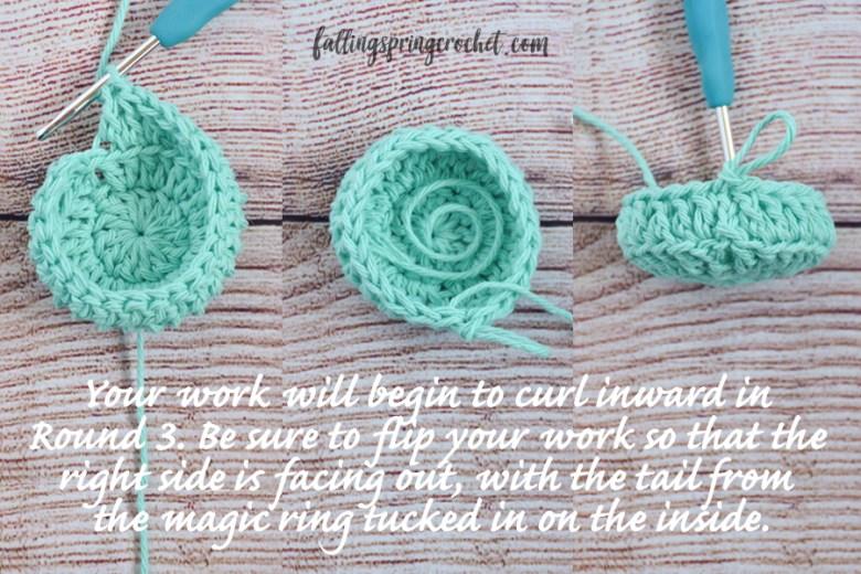 Falling Spring Crochet Water Bottle Sling Crochet Pattern Round 3 Image 2