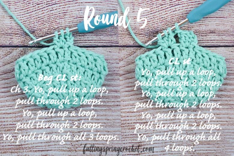 Falling Spring Crochet Water Bottle Sling Crochet Pattern Round 5