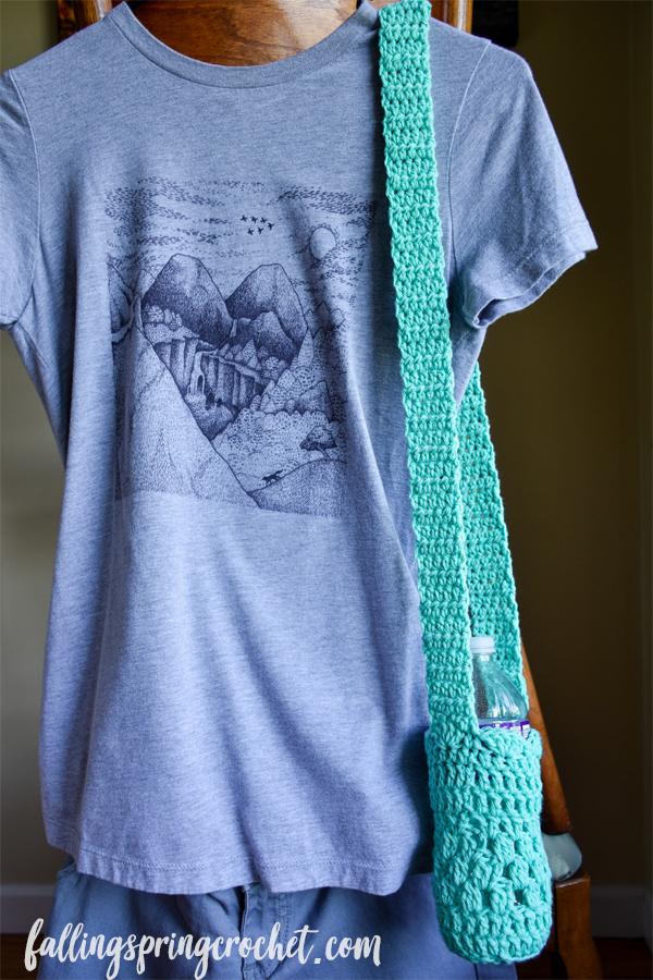 Falling Spring Crochet Water Bottle Sling Crochet Pattern Sample Image
