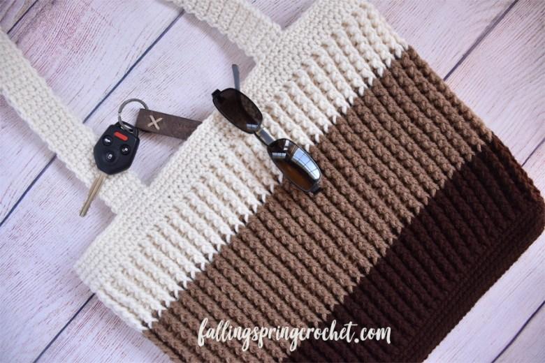 Falling Spring Crochet Easy Tote Bag Crochet Pattern Sample Image 3