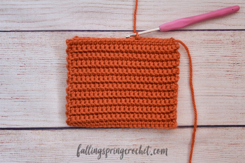 Falling Spring Crochet Easy Crochet Pumpkin Row of Slip Stitches