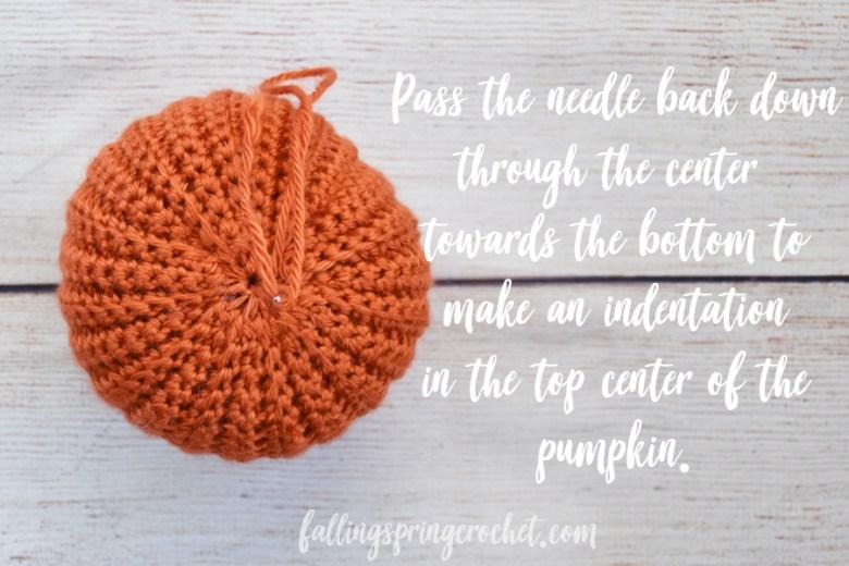 Falling Spring Crochet Easy Crochet Pumpkin Indenting the Center