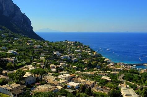 Capri from road to Villa Jorvis.  Photo by BW.