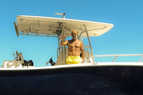 Bruno -- villa owner and boat captain.  Photo by BW.