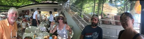 This family loves their panos. Lunch in Positano. Photo by Kat.