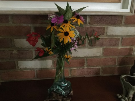 Flowers from the garden.